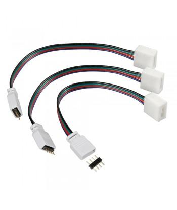 Connect-3, Connettori centralina per strisce a Led RGB, set 3 pz
