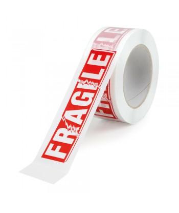Nastro adesivo bianco con stampa fragile, set 6 pz
