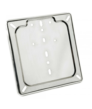 Porta targa in acciaio inox - Cromo