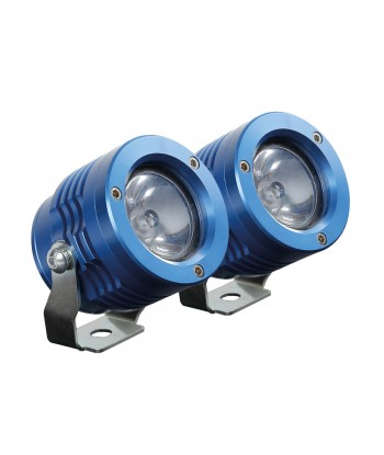 O-Lux, coppia fari ausiliari a led, 12V - Blu