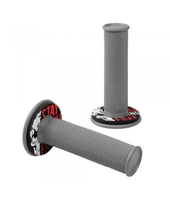 Donut Off-Road Grips, manopole universali - Grigio - Rosso