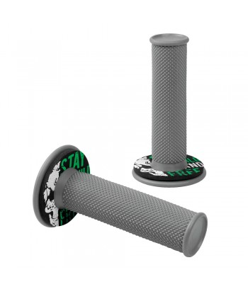 Donut Off-Road Grips, manopole universali - Grigio - Verde