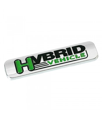 Emblema Antinquinamento 3D cromato - 100x25 mm - Hybrid