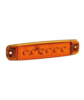 Luce ingombro a 6 Led, montaggio in superficie,12/24V - Arancio