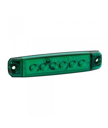 Luce ingombro a 6 Led, montaggio in superficie,12/24V - Verde