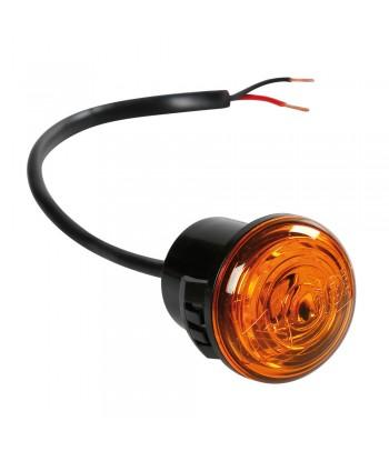 Luce perimetrale da incasso a 1 led, 12/24V - Arancio